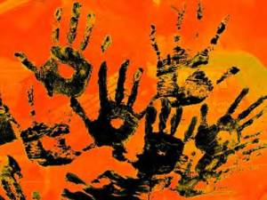 Ghost hand Prints