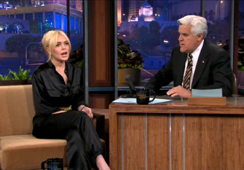 Jay Leno interviews Lindsay Lohan