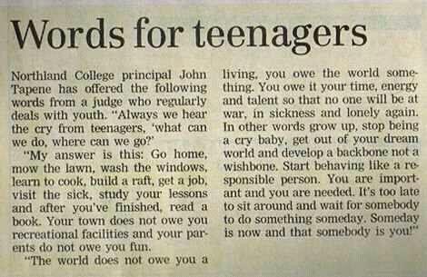 Words for Teenagers
