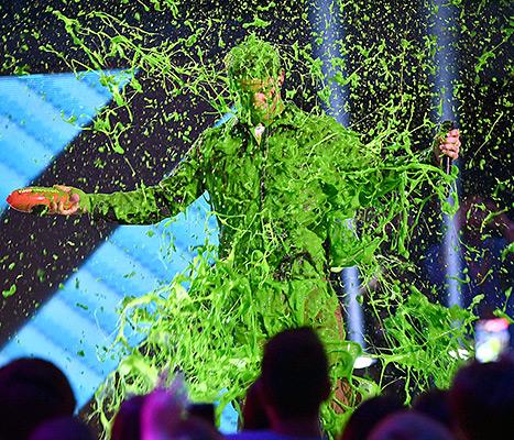 Nick Jonas TCA Slimed