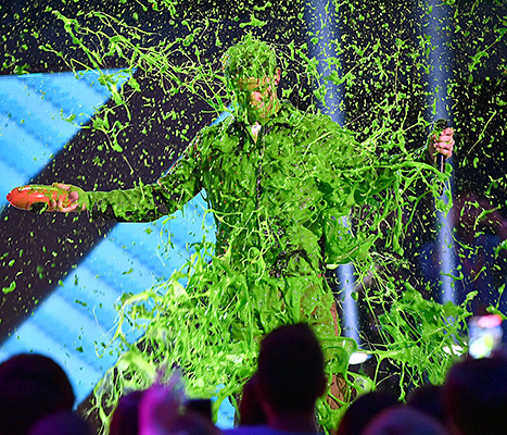 Nick Jonas TCA Slimed