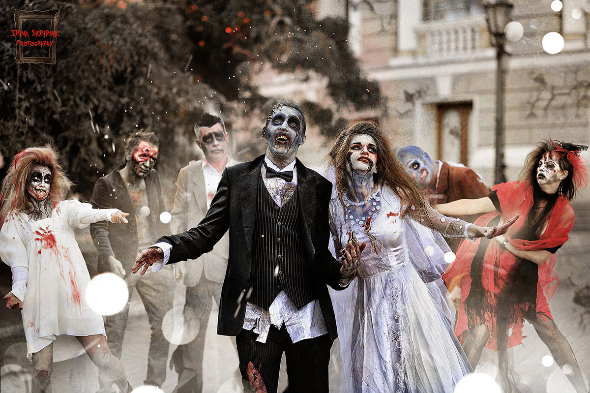 zombies wedding